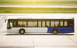 Airport shuttle bus. Stock Images