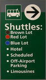 Airport Shuttle Sign Stock Photo