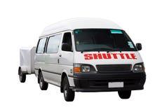 Airport Shuttle Van Isolated op Witte Achtergrond Royalty-vrije Stock Afbeelding