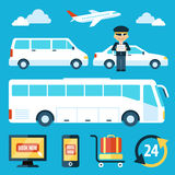 Airport Shuttle Royalty Free Stock Photos