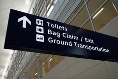 Airport Sign. Sign in newly opened Airport Royalty Free Stock Image