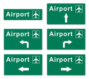 Airport Sign Stock Photo