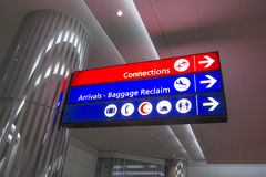 Airport sign. Airport direction sign in a middle eastern country Stock Image
