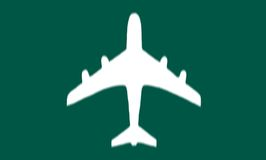 Airport Sign. Airplane on a green background stock image