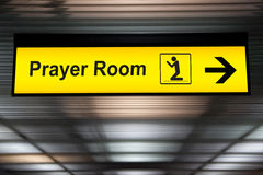 Airport Sign /Airport Sign With Prayer room Icon.  Royalty Free Stock Photography