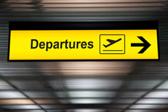 Airport sign departure and arrival board.  Stock Photography