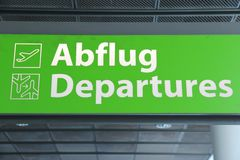 Airport sign - departures Stock Images