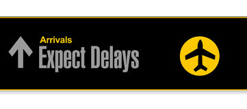 Airport sign. expect delays illustration design Royalty Free Stock Image
