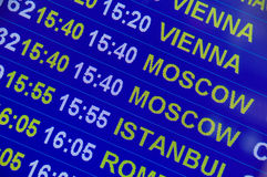 Airport sign - Flight Information stock photography