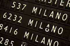Airport sign - Flight Information Royalty Free Stock Photography