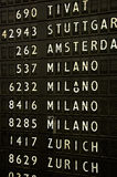Airport sign - Flight Information Stock Images