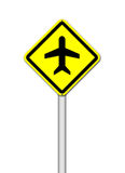 Airport sign on white Royalty Free Stock Photography