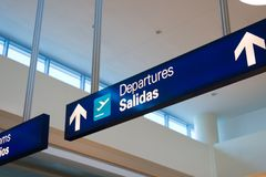 Airport Signage Royalty Free Stock Photo
