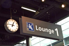 Airport signage Lounge Royalty Free Stock Photography