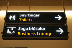 Airport signs Royalty Free Stock Image
