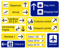 Airport signs Stock Photography