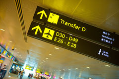 Airport signs Stock Image