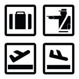 Airport signs Royalty Free Stock Images