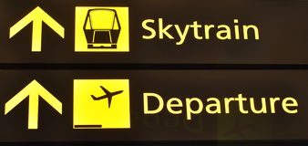 Airport signs Royalty Free Stock Photo