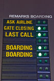 Airport Signs Royalty Free Stock Photography