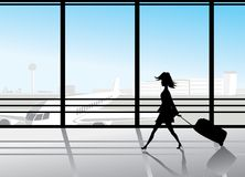 Airport silhouettes Royalty Free Stock Images