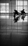 Airport Silhouettes Royalty Free Stock Photography