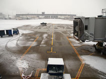 Airport Snow Storm. Winter snow storm at a major north american airport Stock Images