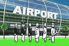 Airport stakeholder Royalty Free Stock Photo
