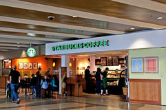 Airport Starbucks Coffee Shop Stock Images