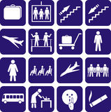 Airport. Station. Icons set. Stock Image