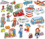 Airport stickers, children's game. 