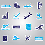 Airport stickers set eps10 Stock Photo
