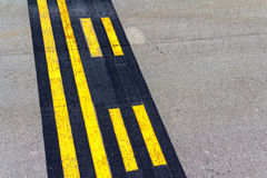 Airport stop lines Royalty Free Stock Photography