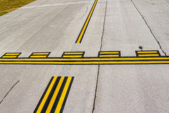 Airport stop lines Stock Images