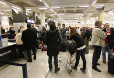 Airport stranded passengers 048 Stock Image