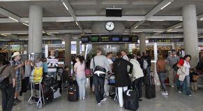 Airport stranded passengers 042 Stock Photography