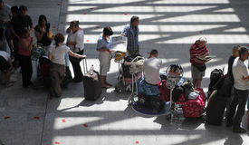 Airport stranded passengers 026 Royalty Free Stock Image