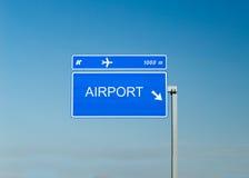 Airport street sign Stock Photos