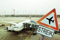 Airport strike Stock Photos