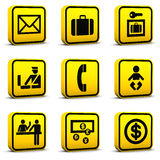 Airport Style Icons Set 05 Royalty Free Stock Images