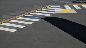 Airport Tarmac markings Stock Image