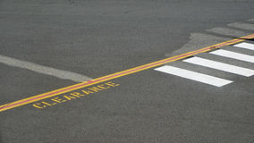 Airport Tarmac markings. View of Airport Tarmac with markings and directions royalty free stock photos