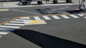 Airport Tarmac markings Royalty Free Stock Photo
