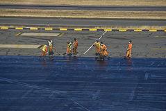 Airport Tarmac Refurbishments Stock Images