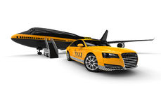 Airport Taxi Royalty Free Stock Photo