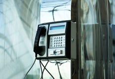 Airport telephone stock image