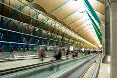 Airport Terminal. The airport terminal of the airport of Madrid, Spain stock image