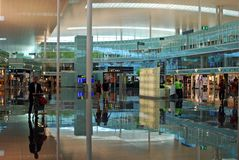 Airport Terminal. Inside an airport terminal shopping area. This image can be used for different articles related with travelling Stock Photography