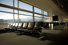 Airport Terminal. Various scenes at a terminal within an international airport royalty free stock photo