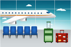 Airport Terminal. Arrival Flight. Stock Images